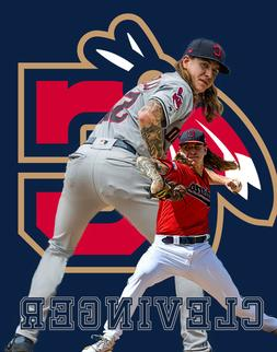 Cleveland Indians  Lithograph print of  Mike Clevinger 11 x