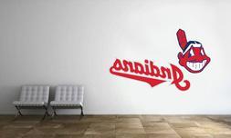 Cleveland Indians Logo Wall Decal MLB Baseball Decor Sport M