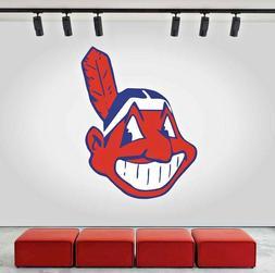 Cleveland Indians Logo Wall Decal Sports Sticker Decor Vinyl