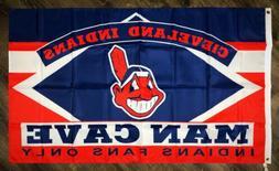 Cleveland Indians Man-Cave MLB Flag 3x5 ft Sports Baseball B