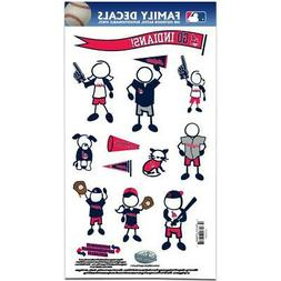Cleveland Indians Medium Family Decals 9 Pack  MLB Auto Car