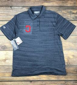 Cleveland Indians MLB Men's Moisture Wicking Golf Polo Shirt