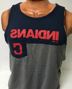 CLEVELAND INDIANS MENS MAJESTIC ATHLETIC TANK TOP SHIRT NEW