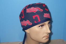 Cleveland Indians MLB Baseball Blue Scrub Hat Cap Medical Su
