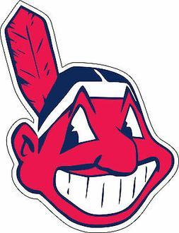 Cleveland Indians MLB Baseball Bumper sticker, wall decor, v