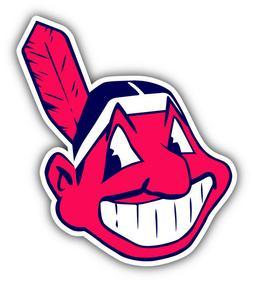 Cleveland Indians MLB Baseball Head Logo Car Bumper Sticker