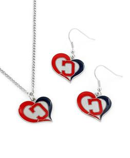 cleveland indians mlb baseball heart earrings