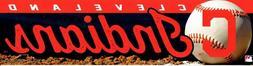 Cleveland Indians MLB Bumper Sticker Strip Vinyl Die Cut Mut
