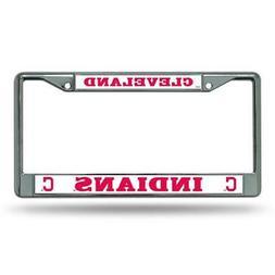 Cleveland Indians MLB Chrome License Plate Frame