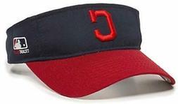 Cleveland Indians MLB OC Sports Two Tone Golf Sun Visor Hat