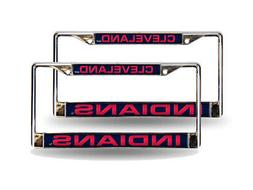 Cleveland Indians MLB  Chrome Metal Laser Cut License Plate