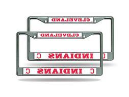 Cleveland Indians MLB  Chrome Metal License Plate Frames