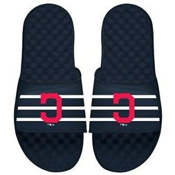 Cleveland Indians ISlide Youth MLB Stripe Slide Sandals - Na