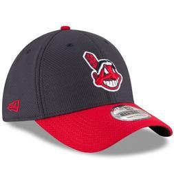 Cleveland Indians New Era Navy Diamond Era 39Thirty Flex Fit