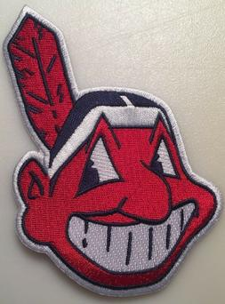 Cleveland Indians patch Chief Wahoo jersey sleeve MLB logo p