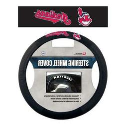 Cleveland Indians Poly Suede Steering Wheel Cover  MLB Car T