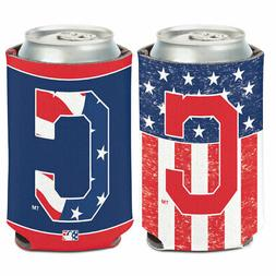 CLEVELAND INDIANS RED WHITE AND BLUE PATRIOTIC NEOPRENE CAN
