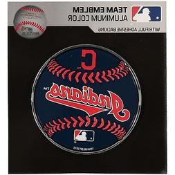 Cleveland Indians Round Baseball Aluminum Metal Color Chrome
