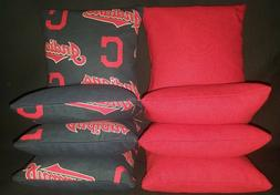 Cleveland Indians Set of 8 Cornhole Bean Bags FREE SHIPPING