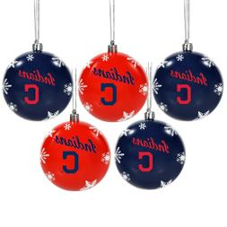 Cleveland Indians Shatterproof BALLS Christmas Tree Holiday
