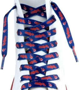 """Cleveland Indians Shoe Laces Strings MLB Team Colors 54"""" One"""