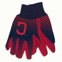 CLEVELAND INDIANS STRIPED UTILITY GRIPPER DOTS GLOVES NEW WI