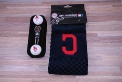 Team Golf Cleveland Indians Golf Towel Gift Set