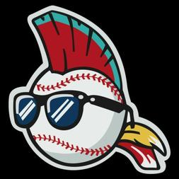 Cleveland Indians Wild Thing vinyl STICKER! Major League Fri