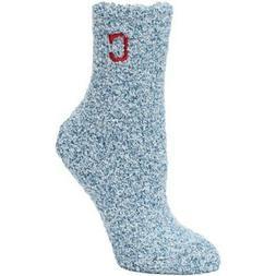 Cleveland Indians Women's Navy Fuzzy Block Tri-Blend Socks