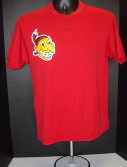 Cleveland Indians YOUTH Majestic Retro Logo Poly CoolBase Sh