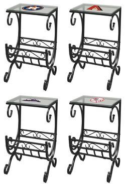 end table nightstand with magazine rack mlb