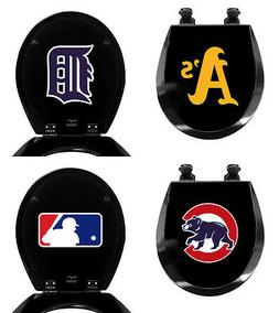 FC671 MLB BASEBALL THEMED BLACK FINISH MOLDED WOOD ROUND TOI