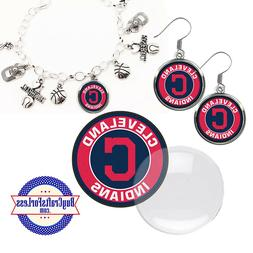 FREE DESIGN > CLEVELAND INDIANS -Earrings, Pendant, Bracelet