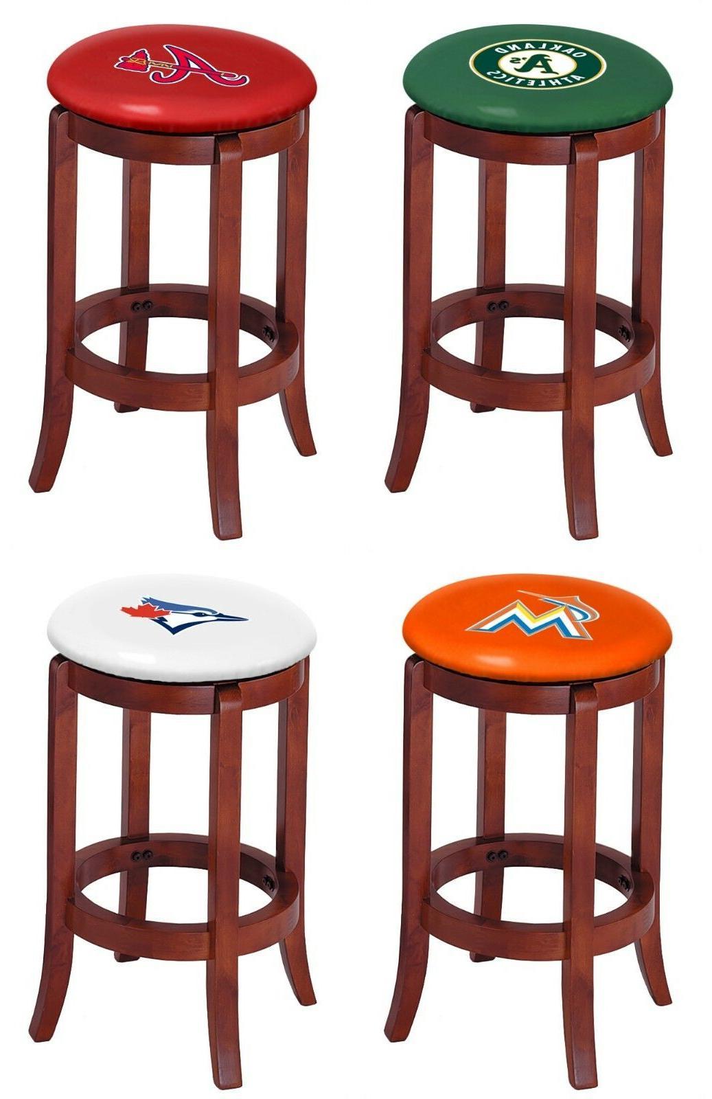 bar stool cherry finish wood 24 tall