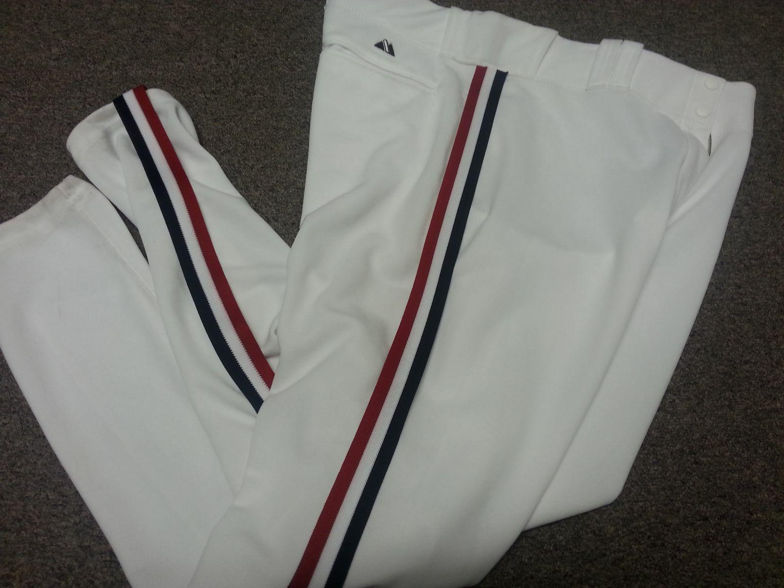 charlie sheen indians authentic throwback baseball pants