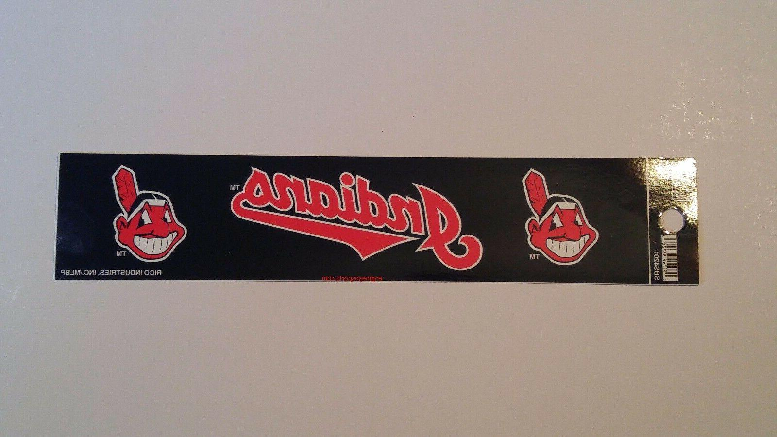 cleveland indians 2 x 9 bumper sticker