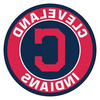 cleveland indians 27 roundel area rug floor