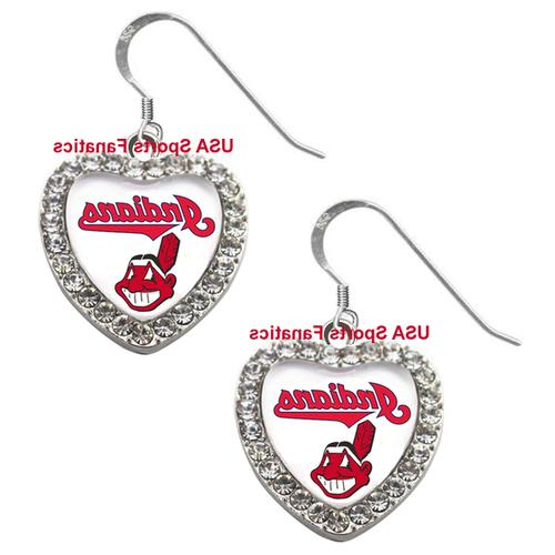 Cleveland Indians Necklace / Earrings or Set Team Heart