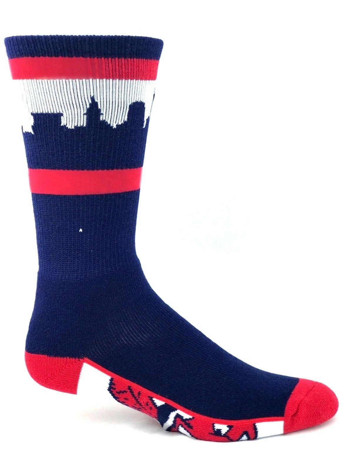 cleveland indians baseball city skyline crew socks