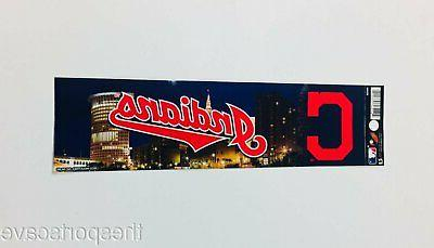 cleveland indians bumper sticker new 3x11 inches