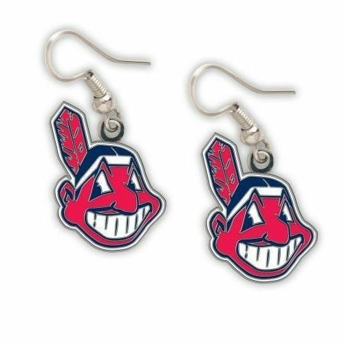 cleveland indians chief wahoo earrings brand new