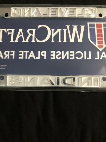 Cleveland Chrome Frame Metal License Plate Baseball