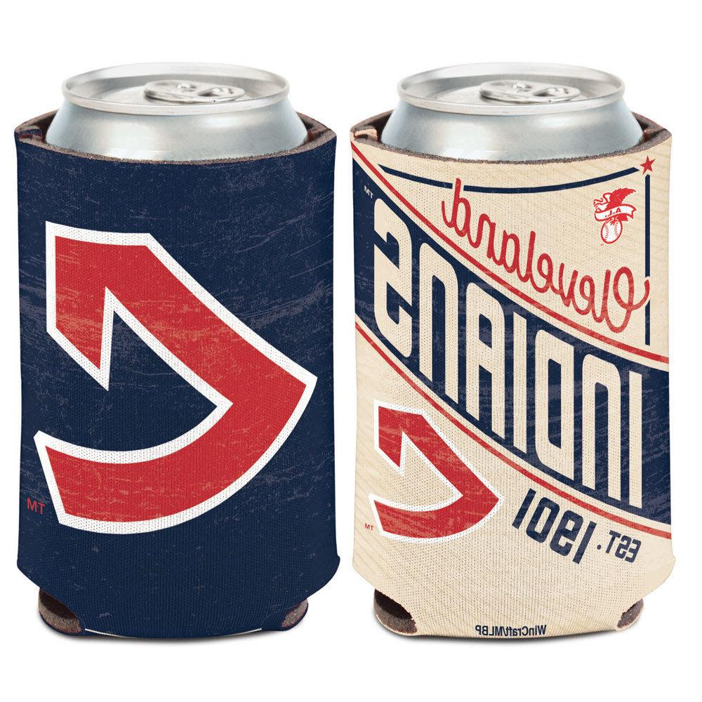 cleveland indians cooperstown can cooler 12 oz