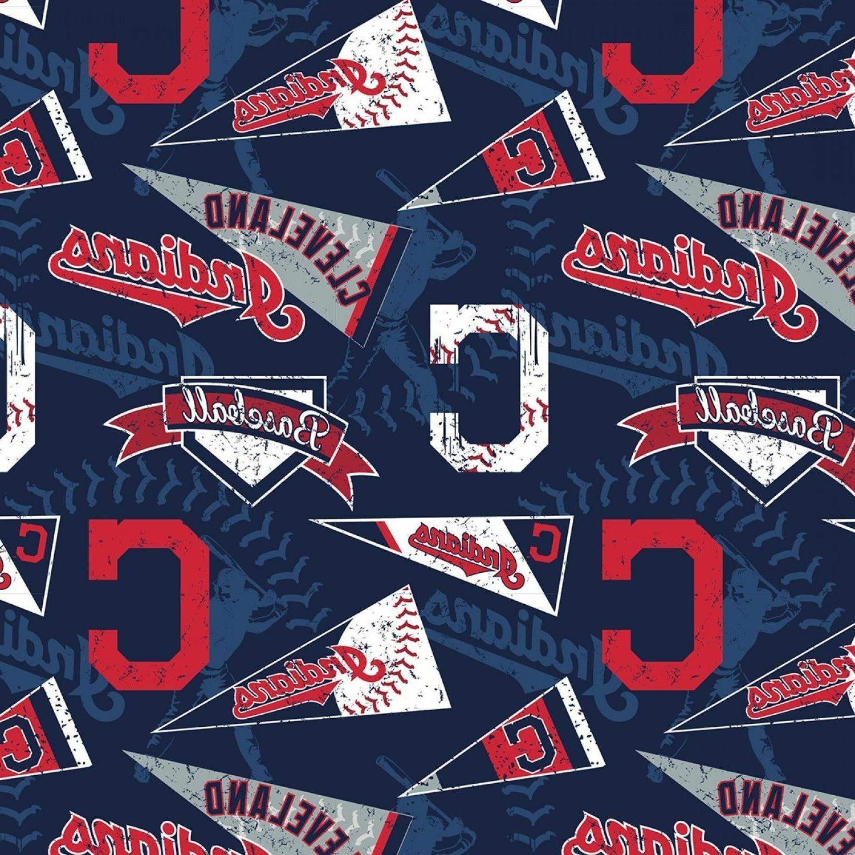cleveland indians fabric retro major league baseball