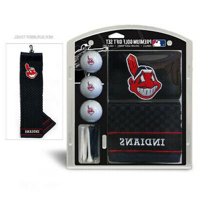 cleveland indians golf towel set with golf