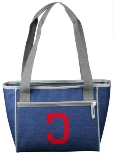 cleveland indians insulated lunch cooler tote bag