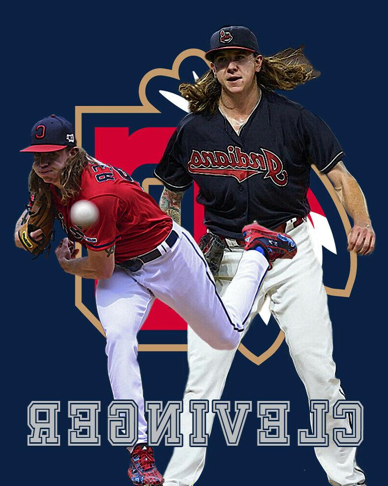 cleveland indians lithograph print of mike clevinger