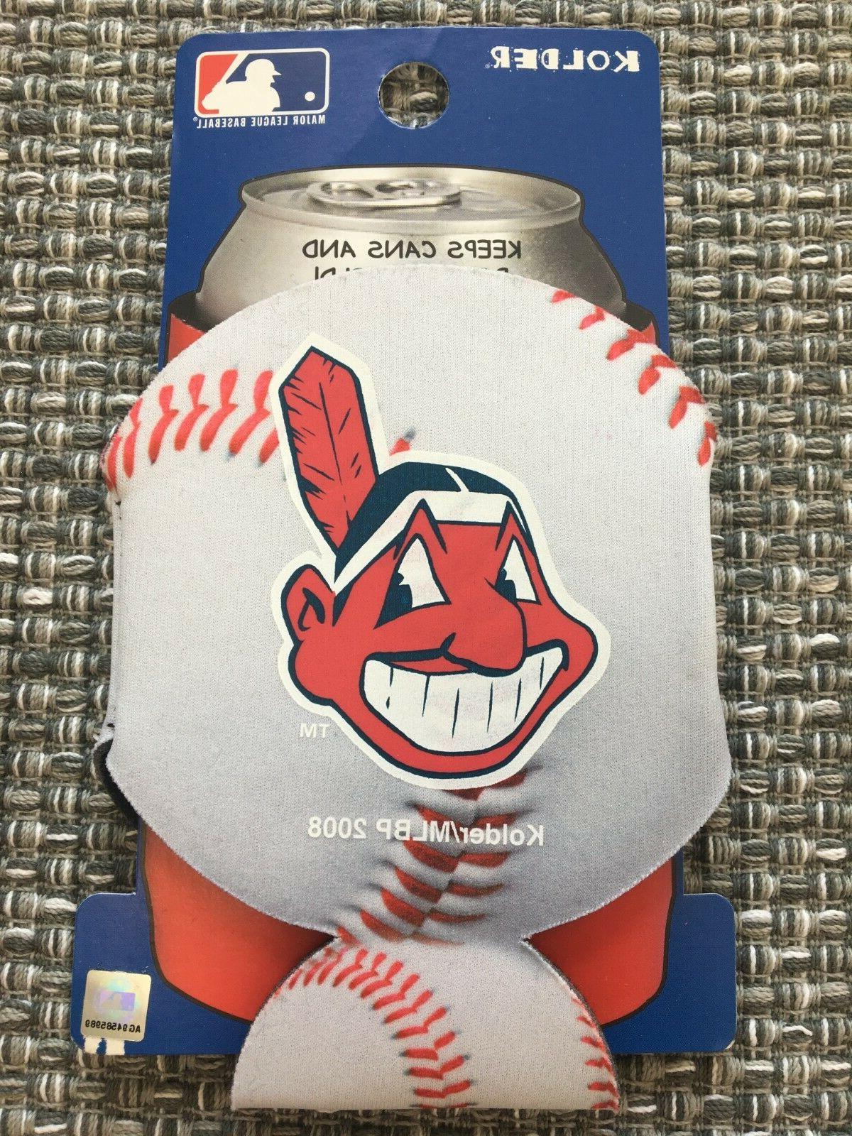 cleveland indians mlb baseball can cooler collapsible