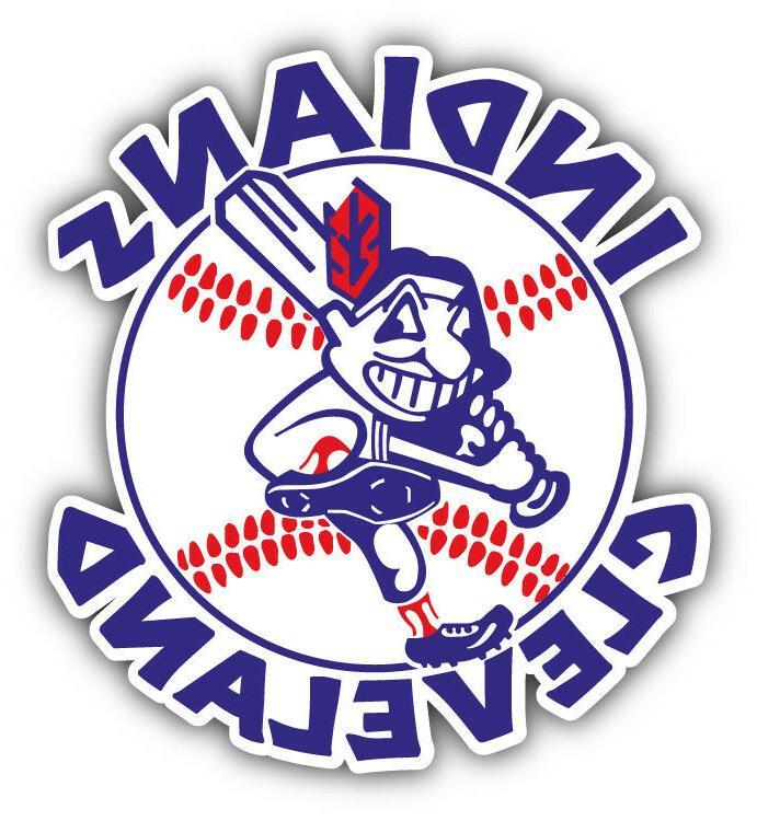 cleveland indians mlb baseball combo logo car