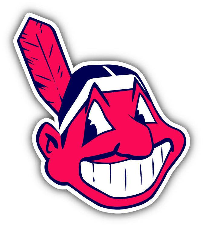 cleveland indians mlb baseball head logo car